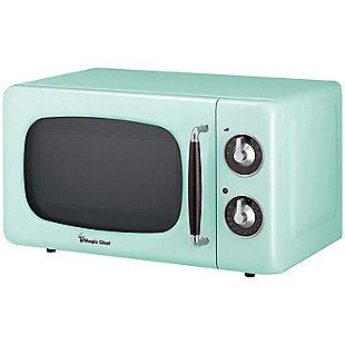 MAGIC CHEF .7 Cubic-ft 700-Watt Retro Microwave (Mint Green), , large