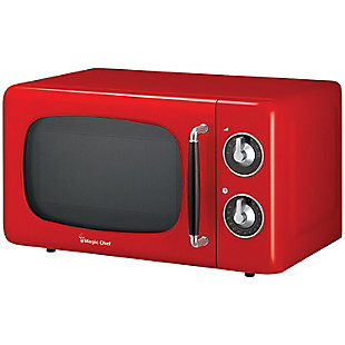 MAGIC CHEF .7 Cubic-ft 700-Watt Retro Microwave (Red), , rollover