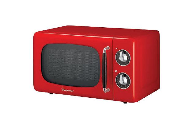 MAGIC CHEF .7 Cubic-ft 700-Watt Retro Microwave (Red), , large