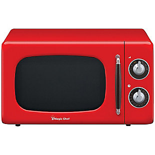 MAGIC CHEF .7 Cubic-ft 700-Watt Retro Microwave (Red), , large
