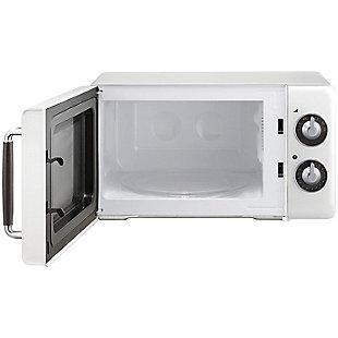 MAGIC CHEF .7 Cubic-ft 700-Watt Retro Microwave (White), , rollover