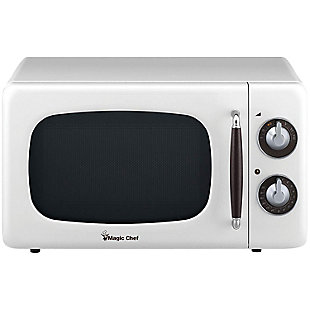 MAGIC CHEF .7 Cubic-ft 700-Watt Retro Microwave (White), , large