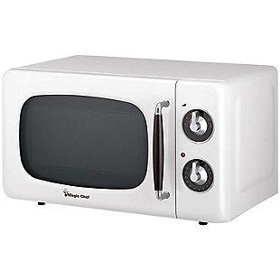 MAGIC CHEF .7 Cubic-ft 700-Watt Retro Microwave (White), , large