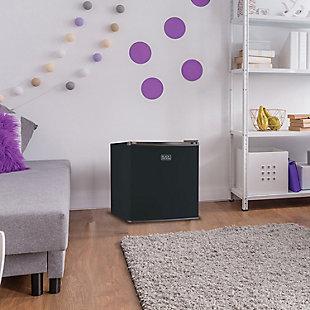 BLACK+DECKER 1.7 Cubic-ft Refrigerator/Freezer (Black), , rollover