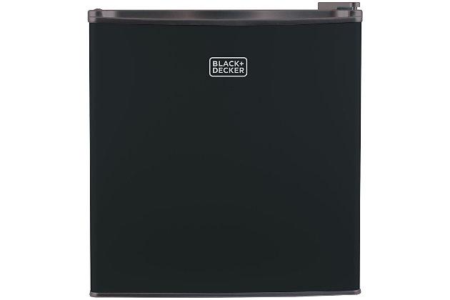 BLACK+DECKER 1.7 Cubic-ft Refrigerator/Freezer (Black), , large
