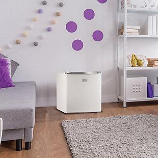 BLACK+DECKER 1.7 Cubic-ft Refrigerator/Freezer (White), , rollover