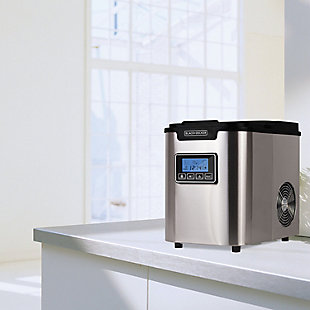 BLACK+DECKER 26-lb Capacity Stainless Steel Ice Maker, , rollover