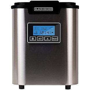 BLACK+DECKER 26-lb Capacity Stainless Steel Ice Maker, , large