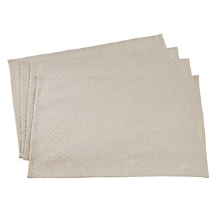 Saro Lifestyle Chenille Jacquard Placemat (Set of 4), , rollover