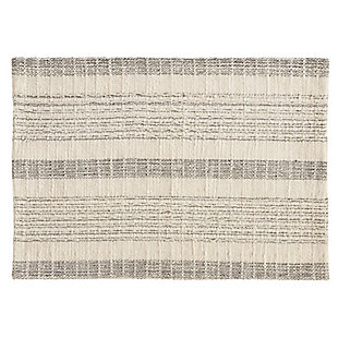Saro Lifestyle Striped Woven Cotton Table Placemat (Set of 4), , large