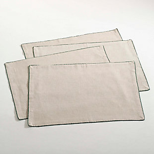 Saro Lifestyle Crochet Scalloped Design Table Linens (Set of 4), , large