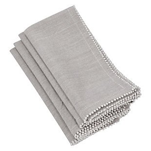 Saro Lifestyle Pearl Design Napkin (Set of 4), , large