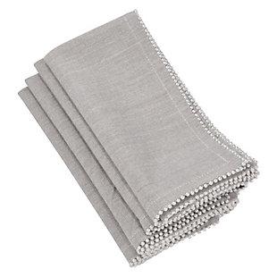 Saro Lifestyle Pearl Design Napkin (Set of 4), , large