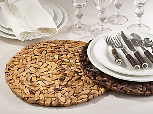Saro Lifestyle Woven Sea Grass Placemat (Set of 4), Brown, rollover
