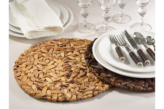 Saro Lifestyle Woven Sea Grass Placemat (Set of 4), Beige, large