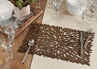 Saro Lifestyle Table Placemat with Laser Cut Design (Set of 4), , rollover