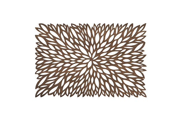 Saro Lifestyle Table Placemat with Laser Cut Design (Set of 4), , large