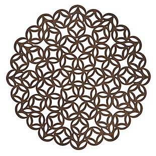 Saro Lifestyle Round Placemat with Laser Cut Design (Set of 4), , large