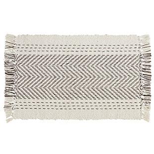 Saro Lifestyle Cotton Placemat with Kantha Stitch Design (Set of 4), , large