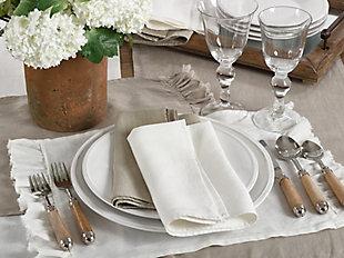 Saro Lifestyle Ruffled Design Napkin (Set of 4), Gray, rollover