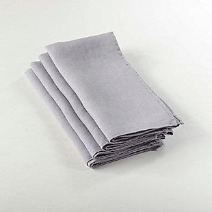 Saro Lifestyle Ruffled Design Napkin (Set of 4), Gray, large
