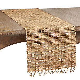 Saro Lifestyle Table Runner with Water Hyacinth Construction, , large