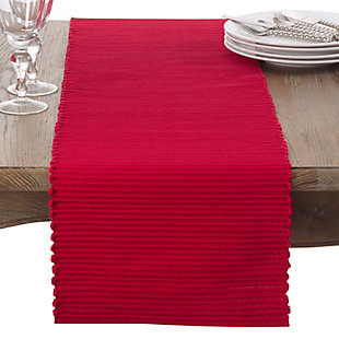 Saro Lifestyle Cotton Mattor Ribbed Table Runner, , large