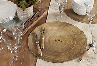 Saro Lifestyle Wood Print Placemat (Set of 4), , rollover