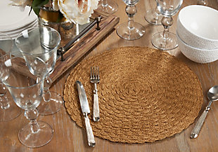 Saro Lifestyle Paper Placemat with Woven Design (Set of 4), , rollover
