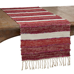 Saro Lifestyle 16x72 Table Runner with Wide Stripe Design, , large