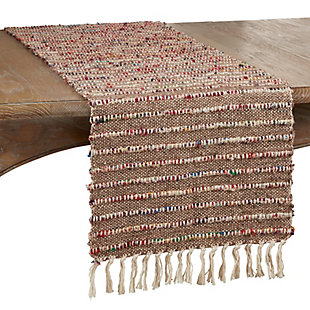 Saro Lifestyle 16x72 Cotton Table Runner with Corded Design, , large