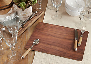 Saro Lifestyle Wood Print Design Placemat (Set of 4), , rollover