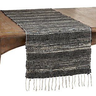 Saro Lifestyle Cotton 16x72 Table Runner with Stripes, , large