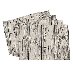 Saro Lifestyle Wood Print Placemat (Set of 4), , large