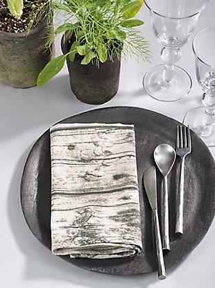 Saro Lifestyle Printed Wood Table Napkin (Set of 4), , large