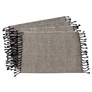 Saro Lifestyle Tassel Design Jute And Cotton Placemat (Set of 4), , large