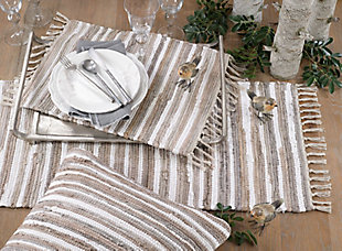 Saro Lifestyle Chindi Design Cotton Placemat (Set of 4), , rollover