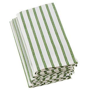 Saro Lifestyle Cotton Napkin with Cheerful Striped Design (Set of 4), Green, large