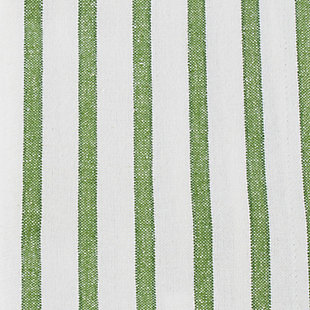 Saro Lifestyle Cotton Napkin with Cheerful Striped Design (Set of 4), Green, large