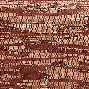 Saro Lifestyle Chindi Design Leather Placemat (Set of 4), , large