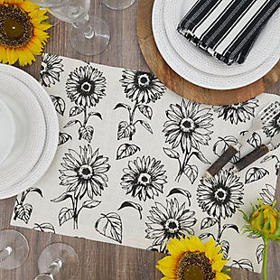 Saro Lifestyle Cotton Placemat with Sunflower Design (Set of 4), , rollover