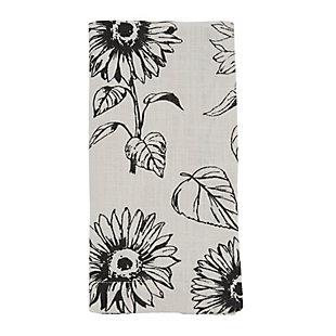 Saro Lifestyle Cotton Table Napkin with Sunflower Design (Set of 4), , large
