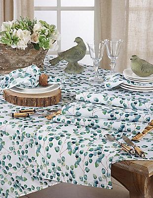 Saro Lifestyle Eucalyptus Leaf Design Napkin (Set of 12), , rollover