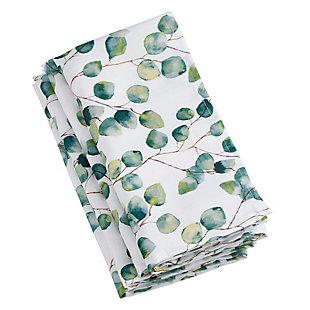 Saro Lifestyle Eucalyptus Leaf Design Napkin (Set of 12), , large