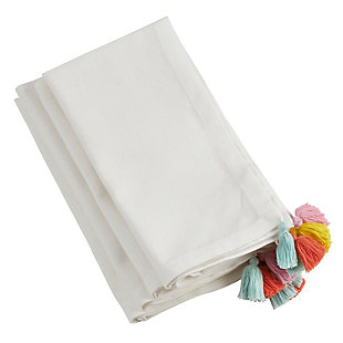 Saro Lifestyle Fiesta Tassel Table Napkin (Set of 4), , large