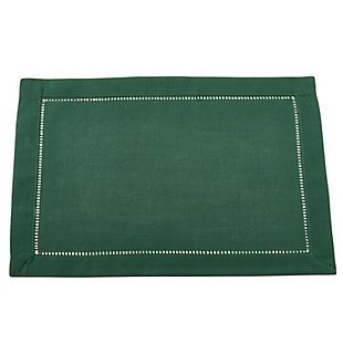 Saro Lifestyle Classic Hemstitch Border Placemat (Set of 12), , large