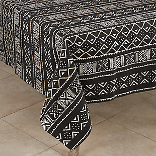 "Saro Lifestyle Cotton Mud Cloth 57"" Square Tablecloth, , large"