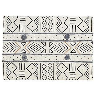 Saro Lifestyle Mud Cloth Cotton Placemat (Set of 4), , large