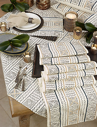 "Saro Lifestyle Cotton Mud Cloth 57"" Square Tablecloth, , rollover"