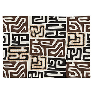 Saro Lifestyle Kuba Cloth Placemat (Set of 4), , large